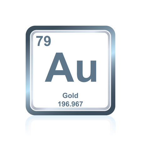 Symbol of chemical element cesium as seen on the periodic table symbol of chemical element gold as seen on the periodic table of the elements including urtaz Gallery