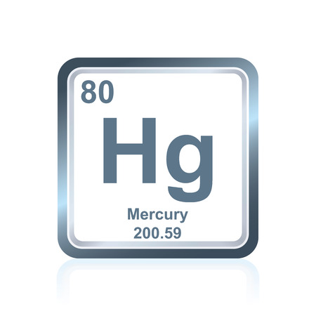Symbol Of Chemical Element Mercury As Seen On The Periodic Table