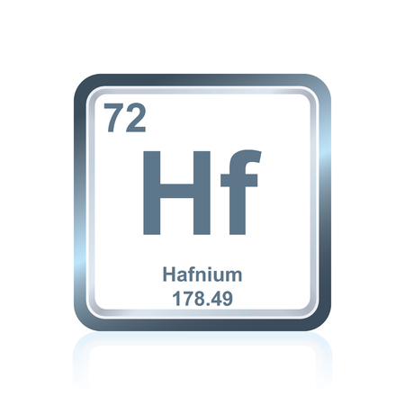 Symbol of chemical element tungsten as seen on the periodic table symbol of chemical element hafnium as seen on the periodic table of the elements including urtaz Choice Image