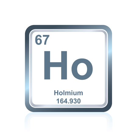 Symbol Of Chemical Element Holmium As Seen On The Periodic Table