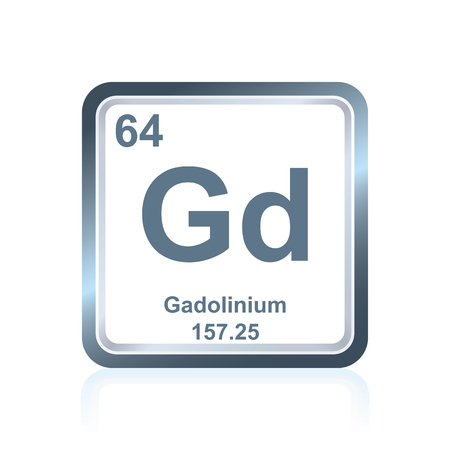 lanthanide: Symbol of chemical element gadolinium as seen on the Periodic Table of the Elements, including atomic number and atomic weight. Illustration