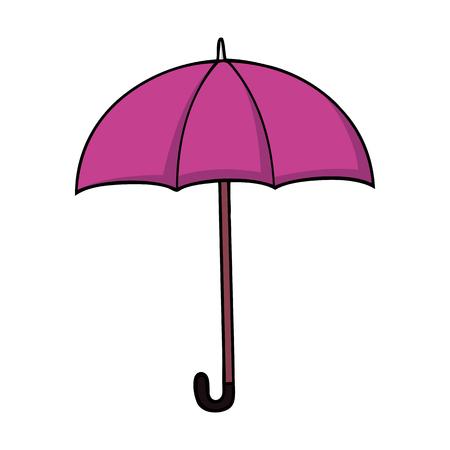 Roze cartoonparaplu in cartoonstijl