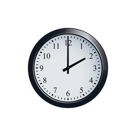 Wall clock set at 2 oclock
