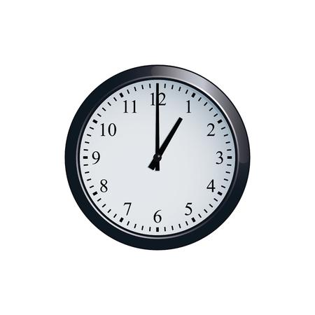 壁掛け時計 1 に設定  イラスト・ベクター素材