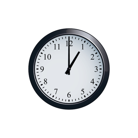 Wall clock set at 1 o'clock