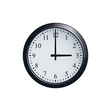 Wall clock set at 3 oclock