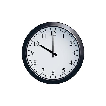 Wall clock set at 10 o'clock