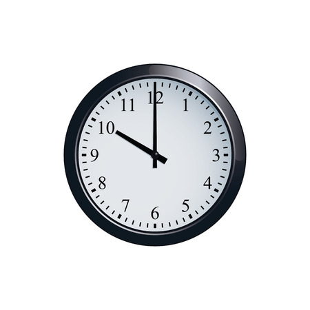 Wall clock set at 10 o'clock