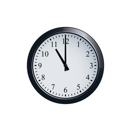 Wall clock set at 11 oclock Illustration