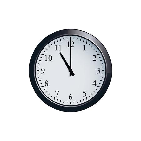 Wanduhr auf 11 Uhr eingestellt Standard-Bild - 80476431