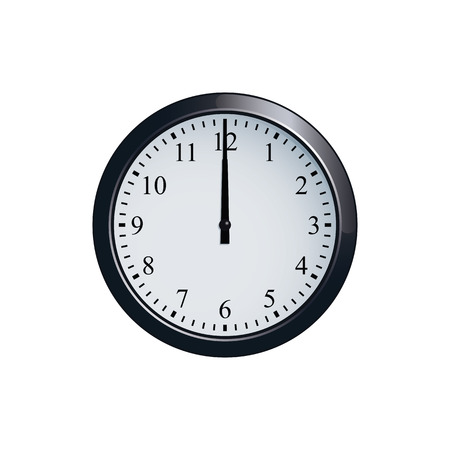 壁時計は 12 に設定