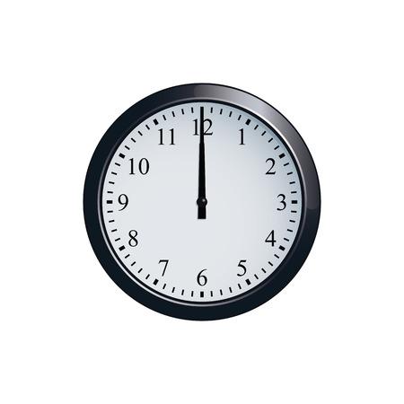 Wall clock set at 12 oclock