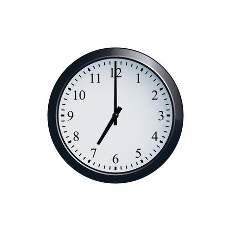 pm: Wall clock set at 7 oclock