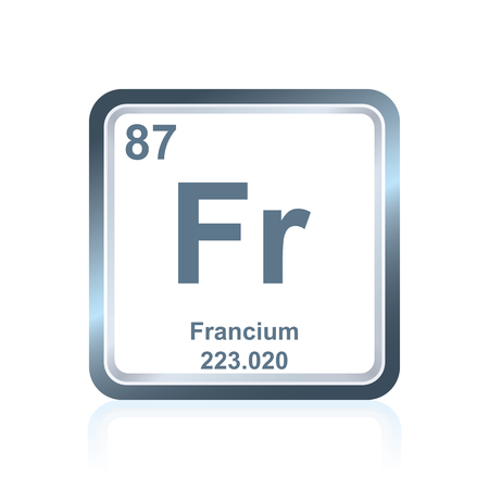 Symbol Of Chemical Element Francium As Seen On The Periodic Table