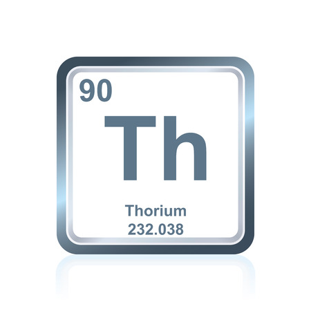 Symbol Of Chemical Element Thorium As Seen On The Periodic Table
