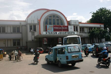 continuation: JAKARTA- DECEMBER 17: Station Beos is an old train station is quite old in the old city and is set by the City as a cultural heritage. This station is one of the few stations in Indones Editorial