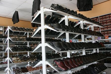 shoe store window in a leather craft center in Manding, Yogyakarta Stock Photo - 12754604