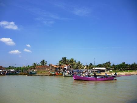 pungkruk fishing village on the coast, Jepara, central Java, Indonesia photo