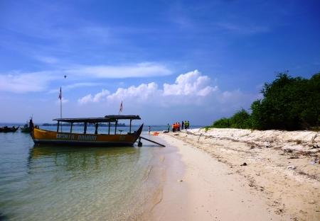 crossings: seascape of panjang island scenery in Central Java Editorial