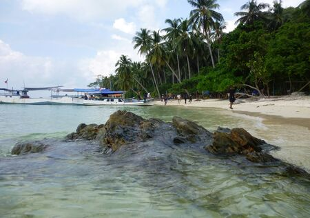 The beautiful Gelam beach located on the promontory of the island of Java Karimun photo