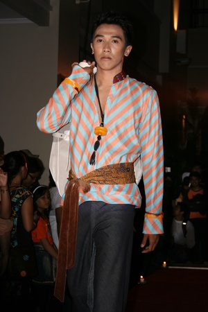 crearion: YOGYAKARTA - FEBRUARY 5  Demonstration of male and female models in a fashion show at a hotel on February 5, 2007 in Yogyakarta Editorial