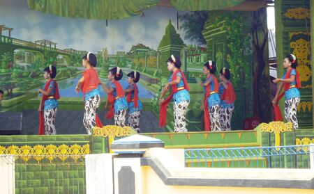 staging: PATI-OCTOBER 12  opening dance at a staging kethoprak on October 12, 2012 in Pati Editorial