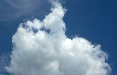 foaming: blue sky clouds march in the sky