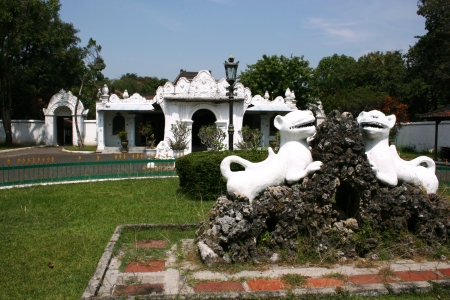 architectural styles, ornaments, carvings, customs, behavior and culture and scenery kasepuhan cirebon complex, west Java