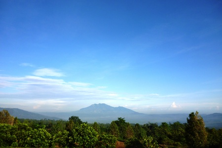 Mount merbabu One of the most beautiful volcanoes in Java, Indonesia Stock Photo - 16853110