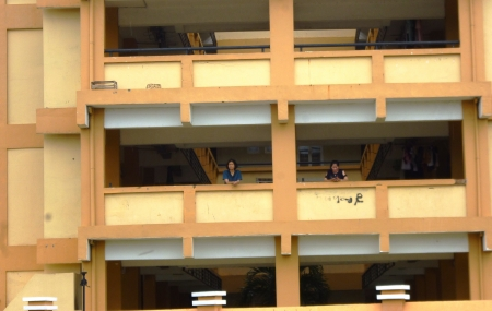 mietshaus: flats in the Jepara, Central Java, Indonesia Stock Photo