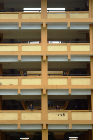 flats in the Jepara, Central Java, Indonesia Stock Photo