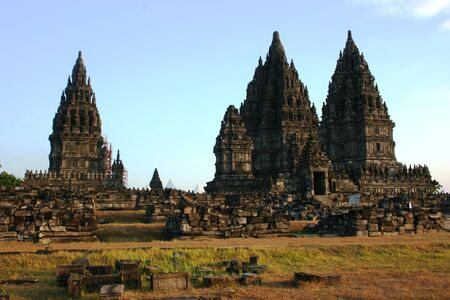 Prambanan temple is located in Yogyakarta on Java island, Indonesia Stock Photo - 17049689
