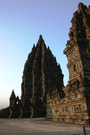 Prambanan temple is located in Yogyakarta on Java island, Indonesia photo