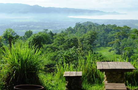 unspoiled: unspoiled landscapes and soothing in some places in Indonesia Stock Photo