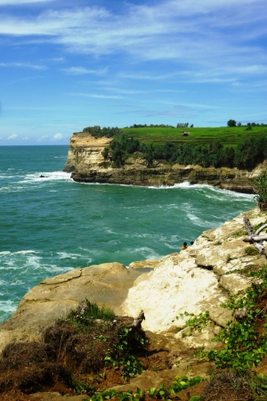 Klayar beautiful beach in the district of Pacitan, east java, Indonesia photo