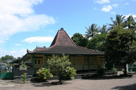 joglo original traditional house in Yogyakarta, Indonesia Editorial