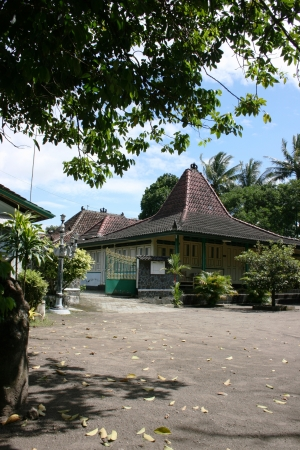 joglo original traditional house in Yogyakarta, Indonesia 新闻类图片