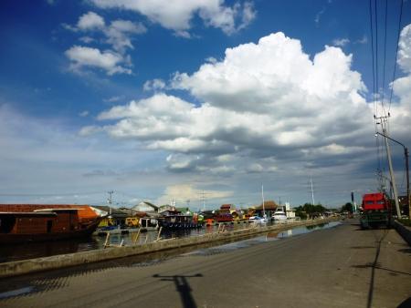 atmosphere harbor tanjung mas semarang, central java, Indonesia photo