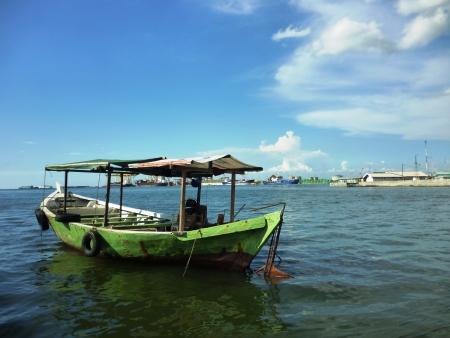 atmosphere harbor harbor mas semarang, central java, Indonesia photo