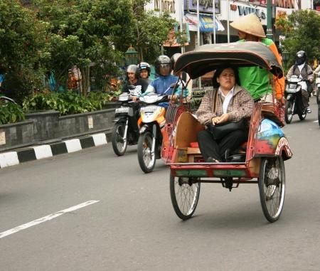 jogja rickshaw around Malioboro street , Yogyakarta