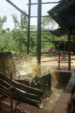 installation and traditional petroleum mining operations in Cepu, Indonesia photo