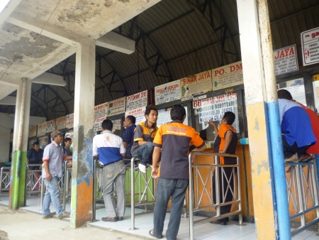 gridlock: atmosphere in the valley lebak bulus terminal  in south jakarta, Indonesia Editorial
