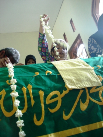 Muslim funeral atmosphere in Indonesia, Asia