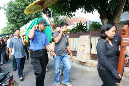funeral parlor: Muslim funeral atmosphere in Indonesia, Asia Editorial