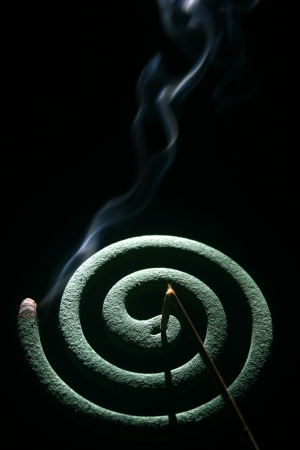 smoke mosquito coils which cause strange shape photo