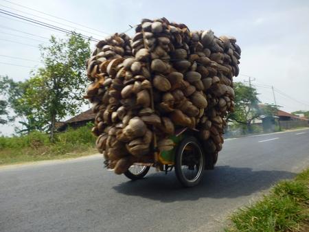 een automobilist dragen zijn lading overbelasting