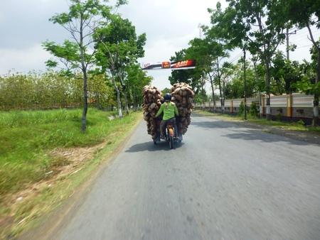 motorist: a motorist carry its load overload  Editorial
