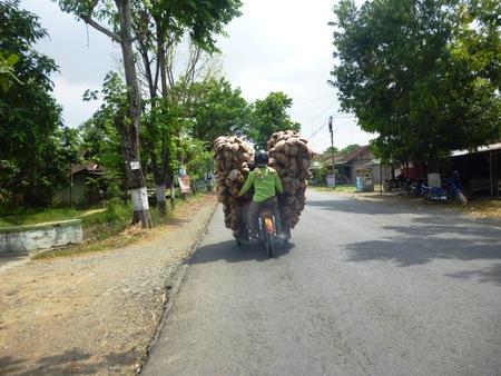 motorist: a motorist carry its load overload  Stock Photo