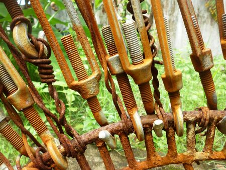 corroded electrical wiring in Indonesia country, asia photo