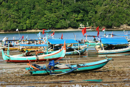 boat in sendangbiru beach, Malang, East Java, Indonesia photo